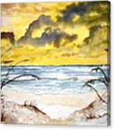 Abstract Beach Sand Dunes Canvas Print