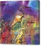 Abstract Birds Canvas Print