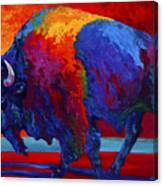 Abstract Bison Canvas Print