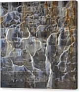 Abstract Bleeding Concrete Canvas Print