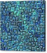 Abstract Blue And Green Pattern Canvas Print
