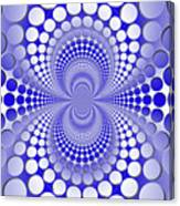 Abstract Blue And White Pattern Canvas Print