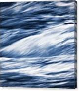 Abstract Blue Background Wild River Canvas Print