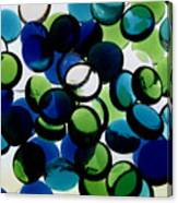 Abstract Blue Green II Canvas Print
