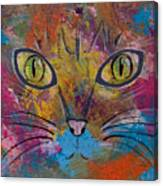 Abstract Cat Meow Canvas Print