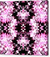 Pink And Black Design  Canvas Print