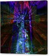 Abstract City In Purple Canvas Print