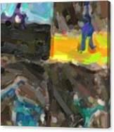 Abstract Color Combination Series - No 9 Canvas Print
