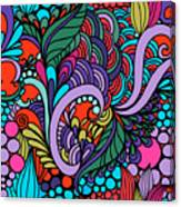 Abstract Colorful Floral Design Canvas Print