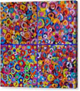 Abstract Colorful Flowers 4 Canvas Print