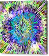Abstract Colorful Tie Dye Canvas Print