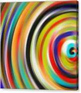 abstract Colurfull Rings Canvas Print