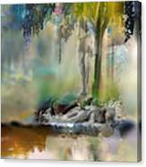 Abstract Contemporary Art Titled Humanity And Natures Gift By Todd Krasovetz  Canvas Print