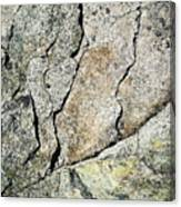 Abstract Cracks On A Granite Block Of Stone Canvas Print