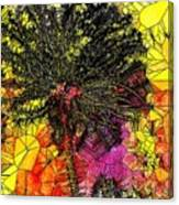 Abstract Dandelion Stained Glass Canvas Print