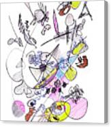 Abstract Drawing Seventy-two Canvas Print