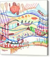 Abstract Drawing Three Canvas Print