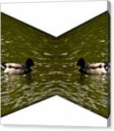 Abstract Ducks Canvas Print