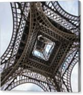 Abstract Eiffel Tower Looking Up 2 Canvas Print