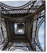 Abstract Eiffel Tower Looking Up Canvas Print