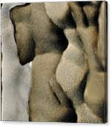 Abstract Female Figure In Grey  Canvas Print