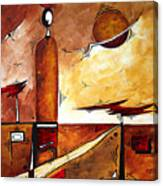 Abstract Figurative Art African Flame By Madart Canvas Print