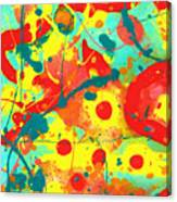 Abstract Floral Fantasy Panel A Canvas Print