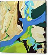Abstract Flow Green-blue Series No.2 Canvas Print