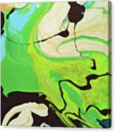 Abstract Flow Green-blue Series No.3 Canvas Print