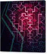 Abstract Flowchart Background Canvas Print