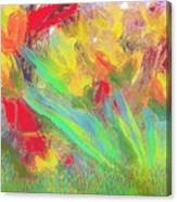 Abstract Flowers Canvas Print