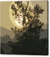 Abstract Foggy Sunrise Canvas Print