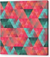 Abstract Geometric Colorful Endless Triangles Abstract Art Canvas Print