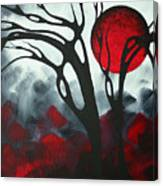 Abstract Gothic Art Original Landscape Painting Imagine I By Madart Canvas Print