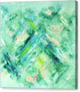 Abstract Green Blue Canvas Print