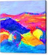 Abstract Hills Canvas Print