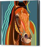 Abstract Horse Canvas Print