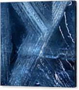 Abstract Ice. Darkness Canvas Print