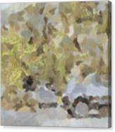Abstract Image Of Car Passing Through A Dust Storm Canvas Print
