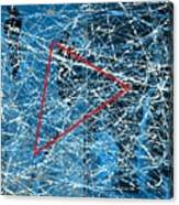 Abstract in blue and red Canvas Print
