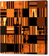 Abstract In Orange And Black Canvas Print