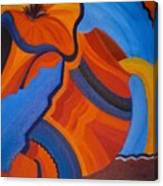 Abstract In Orange And Blue Canvas Print