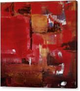 Abstract In Red Canvas Print