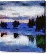 Abstract Invernal River Canvas Print