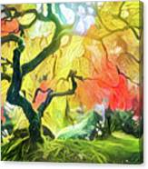 Abstract Japanese Maple Tree 5 Canvas Print