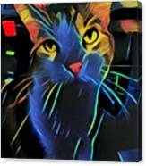Abstract Kitty Canvas Print