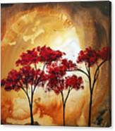Abstract Landscape Painting Empty Nest 2 By Madart Canvas Print