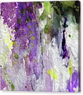 Abstract Lavender Cascades Canvas Print