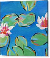 Abstract Lily Pads Canvas Print
