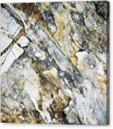 Abstract Limestone And Silica Texture Canvas Print